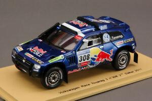 【送料無料】模型車 スポーツカー トアレグ#ダカールラリースパークモデルvw race touareg 3 308 2nd dakar 2011 143 spark s0824 model