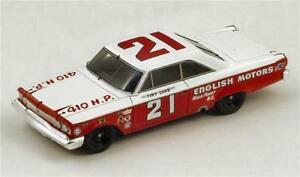 【送料無料】模型車 スポーツカー フォードギャシーデイトナルンドスパークモデルford galaxy n21 winner daytona 1963 t lund 143 spark s3600 model