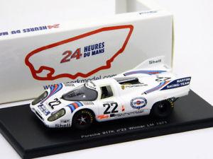 【送料無料】模型車 スポーツカー lemans 1971 merkoヴァンレネップ143ポルシェ917k22 24hporsche 917k 22 winner 24h lemans 1971 merkovan lennep 143 spark