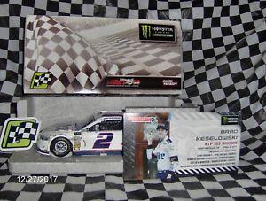 【送料無料】模型車 スポーツカー ブラッド#マーティンズヴィルレース2017 brad keselowski 2 miller lite martinsville raced win 124th