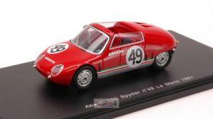 【送料無料】模型車 スポーツカー アバルトスパイダー#ルマンスパークabarth 700 s spyder 49 le mans 1961 143 spark sp1336
