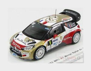 【送料無料】模型車 スポーツカー シトロエン#ラリーローブスパークモデルcitroen ds3 wrc 1 winner rally du var 2014 loeb 143 spark sf081 model