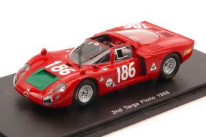 【送料無料】模型車 スポーツカー アルファロメオ#タルガフローリオジョイントガリモデルalfa romeo 332 186 2nd targa florio 1968 i jointsno galli 143 model
