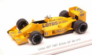 【送料無料】模型車 スポーツカー ロータスイギリスステッカースパークレーヴモデルlotus 99t snakajima 1987 4th grbritain gp wdecals 143 spark reve70182 model
