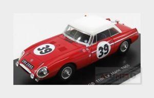 【送料無料】模型車 スポーツカー #ルマンヘッジスパークモデルmg mgb 39 24h le mans 1965 phoplirk ahedges red spark 143 s5079 model