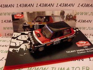 【送料無料】模型車 スポーツカー ネットワークマウントラリーモンテカルロラリーrmc7m 143 ixo altaya rally mounted carlo talbot samba rally 1983 defour