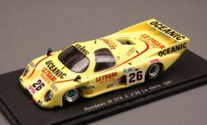 【送料無料】模型車 スポーツカー #ルマンスパークモデルrondeau m 379 c 26 50th le mans 1981 pescarolotambay 143 spark s2267 model