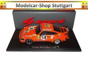 【送料無料】模型車 スポーツカー ポルシェルマン#イェーガーマイスタースパークporsche 934 le mans 1978 68 jgermeister spark 143 s4424