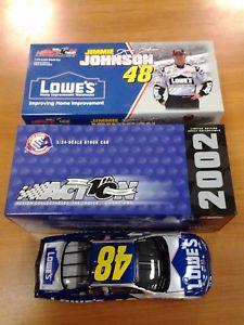 【送料無料】模型車 スポーツカー ジミージョンソン48ロウ2002モンテカルロアクションnib102412nascar124jimmie johnson 48 lowes 2002 monte carlo action nib 102412 nascar car 124