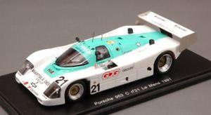 【送料無料】模型車 スポーツカー ポルシェ#ルマンスパークモデルporsche 962 c 21 28th le mans 1991 konradreidlombardi 143 spark s3413 model