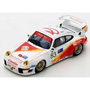 【送料無料】模型車 スポーツカー スパークポルシェグアテマラルマンspark porsche 911 gt2 n83 le mans 1996 143 s5528
