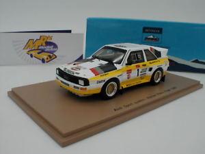 【送料無料】模型車 スポーツカー スパークアウディスポーツパイクスピークムートンspark 43pp85 audi sport quattrowinner pikes peak 1985 m mouton 143