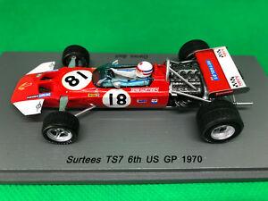 【送料無料】模型車 スポーツカー サーティース#デレクベルアメリカスパーク143 surtees ts7 18 derek bell p6 us gp 1970 spark s5401  ovp