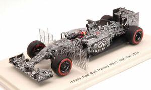 【送料無料】模型車 スポーツカー レッドブルテストカーバーレーンセンサーモデルred bull rb11 test car bahrain 2015 d kvyat with sensors 143 model s4621