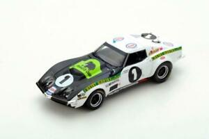 【送料無料】模型車 スポーツカー スパークシボレーコルベットルマンブルドンspark 143 chevrolet corvette c3 n1 le mans 1970 j bourdon jc aubriet s50