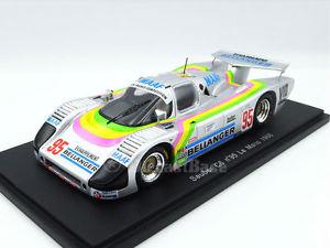 【送料無料】模型車 スポーツカー スパークザウバールマンspark s4081 143 sauber c6 24 hours of le mans 1986 resin lm maaf bellanger bmw