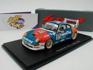 【送料無料】模型車 スポーツカー スパークポルシェグアテマラルマンspark s5512 porsche 911 gt2 no 91 24h le mans 1995 t saldana 143