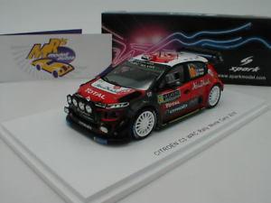 【送料無料】模型車 スポーツカー スパークs5960 citroen c3 wrcモンテカルロラリー2018クリスmeeke143 spark s5960 citroen c3 wrc monte carlo rally 2018 kris meeke 143