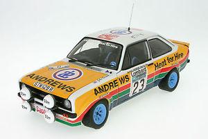 【送料無料】模型車 スポーツカー フォードエスコートラリーサンスター118 ford escort mk ii rs 1800 brookeslombard rac rally 1977sunstar 4460