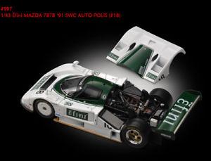 【送料無料】模型車 スポーツカー マツダ787 b18 ce1991143モデルhpimazda 787 b 18 ce 1991 143 model hpi racing