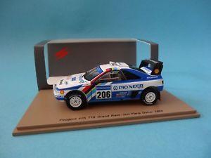 【送料無料】模型車 スポーツカー プジョー#カーブパリダカールスパークpeugeot 405 t16 206 j curves 2 paris dakar 1989 143 spark s5617