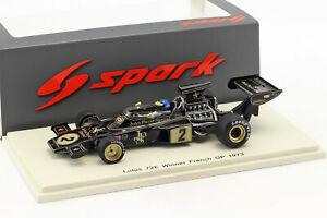 【送料無料】模型車 スポーツカー ロニーpetersonハス72e2 gangantフランスgp1 1973 143スパークronnie peterson lotus 72e 2 gangant france gp formula 1 1973 143 spark