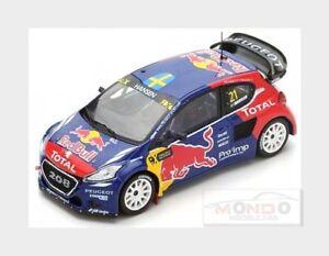 【送料無料】模型車 スポーツカー プジョーレッドブル#フランススパークpeugeot 208 wrx red bull 21 winner world rx of france 2016 spark 143 s5198 mod