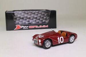 【送料無料】模型車 スポーツカー フェラーリミッレミリアフランココルテーゼbrumm r182; ferrari 125s; 1947 mille miglia; franco cortese; excellent boxed