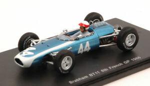 【送料無料】模型車 スポーツカー ブラバムテイラー#フランスグランプリモデルスパークモデルbrabham bt11 j taylor 1966 44 6th french gp 143 model s4336 spark model
