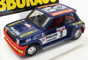 【送料無料】模型車 スポーツカー スケールモデルカールノーターボモンテカルロレーシングカーburago 124 scale model car 3518grenault r5 turbo monte carlo racing car