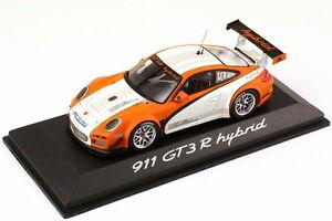 【送料無料】模型車 スポーツカー ポルシェグアテマラハイブリッドホワイトオレンジホワイトディーラーエディション143 porsche 911 gt3 r hybrid type 997 whiteorangewhite 2011 dealer edition