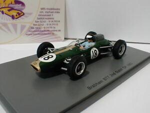 【送料無料】模型車 スポーツカー スパークs5250ブラバムbt7 182オランダgp f1 1963ダン143spark s5250 brabham bt7 18 2nd dutch gp formula 1 1963 dan gurney 143