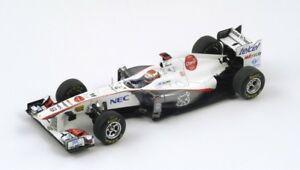 【送料無料】模型車 スポーツカー ザウバー#グランプリモンテカルロホワイトグレースパークsauber f1 c30 16 gp montecarlo 2011 k kobayashi white grey met spark 143 sj005