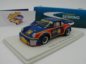 【送料無料】模型車 スポーツカー スパークポルシェセブリングspark 43se76 porsche 911 rsr 14 winner sebring 1976 a holbert 143