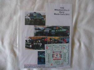 【送料無料】模型車 スポーツカー  143 mitsubishi evo9ディーキャルバリー2011モンテカルロラリーモータースポーツ 143 mitsubishi evo9 decal barry 2011 monte carlo rally motorsport