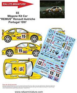 【送料無料】模型車 スポーツカー ポルトガルルノーメガーヌマキシラリーステッカーdecals 132 ref 65 renault megane maxi sperrer rally of the portugal 1997 wrc