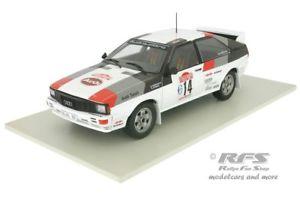 【送料無料】模型車 スポーツカー アウディラリーサンレモムートンポンスアルaudi quattrowinner rallye san remo 1981 moutonpons 118 al181981sr14