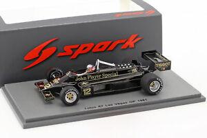 【送料無料】模型車 スポーツカー f1 1981 143ナイジェルマンセルロータス8712ラスベガスgpnigel mansell lotus 87 12 las vegas gp formula 1 1981 143 spark
