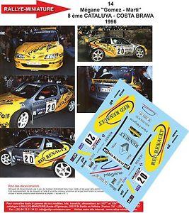 【送料無料】模型車 スポーツカー デカールルノーメガーヌマキゴメスラリースペインカタロニアラリーdecals 132 ref 14 renault megane maxi gomez rally spain catalonia 1996 rally
