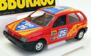 【送料無料】模型車 スポーツカー スケールモデルカーフィアットレーシングカーburago 124 scale model car 2518j fiat tipo racing car red