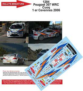 【送料無料】模型車 スポーツカー デカールプジョーラリーdecals 132 ref 1204 peugeot 307 wrc cuoq criterium of cevennes 2006 rally