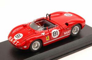 【送料無料】模型車 スポーツカー フェラーリキロロドリゲス#アートモデルアートferrari 275 p 500 km bridgehampton 1964 p rodriguez 81 art model 143 art334