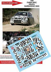 【送料無料】模型車 スポーツカー 132decals ref938skoda fabia wrc heath rally italy sardinia2005rallydecals 132 ref 938 skoda fabia wrc heath rally italy sa