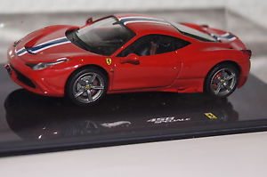【送料無料】模型車 スポーツカー フェラーリホットホイールferrari 458 speciale red 143 hot wheels amp; ovp bly45