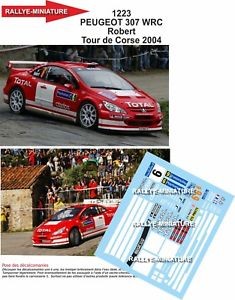 【送料無料】模型車 スポーツカー 132decals ref1223peugeot 307wrc robert tour of corse2004rally rallydecals 132 ref 1223 peugeot 307 wrc robert tour of cors
