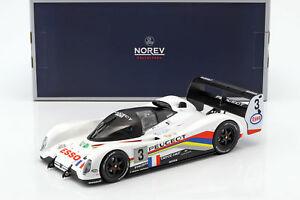 【送料無料】模型車 スポーツカー プジョー#ルマンブラバムpeugeot 905 evo 1b 3 winner 24 h lemans 1993 hlary, bouchut, brabham 118 norev