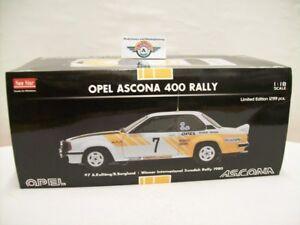 【送料無料】模型車 スポーツカー オペルアスコナ#スウェーデンラリースターopel ascona 400 7 winner internally swedish rally 1980, sun star 118, ovp