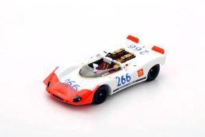 【送料無料】模型車 スポーツカー スパークポルシェスパイダー#タルガフローリオ43tf69 spark 143 porsche 90802 spyder 266 winner targa florio 1969 g mitter