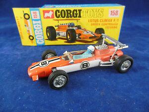 【送料無料】模型車 スポーツカー コーギーロータスクライマックスドライバミントステアリングcorgi toys 158 lotus climax f1 driver controlled steering near mint condition