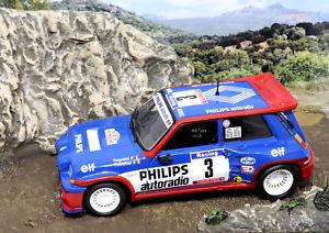 【送料無料】模型車 スポーツカー ルノーマキシターボツールドコルスモデルカーrenault 5 maxi turbo tour de corse 1985 jragnotti pthimonier 143 model car